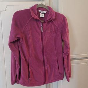 Columbia fleece zip up sweatshirt